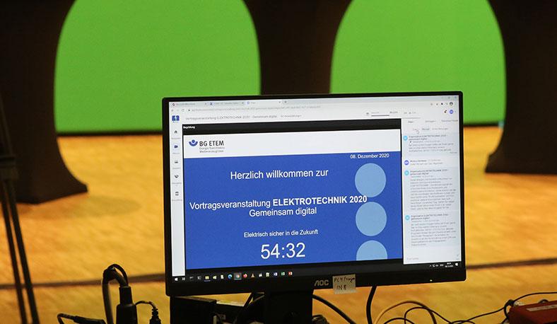 Komplett virtuell und in Green Screen-Technik fand die Vortragsveranstaltung ELEKTROTECHNIK 2020 statt.