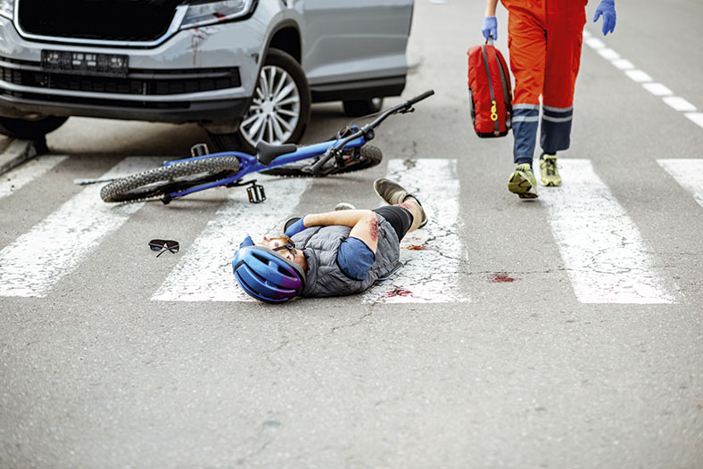 Fahrradhelm: Unfall, Titelbild