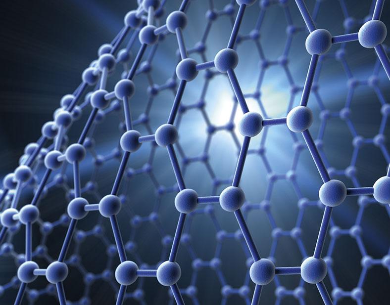 Das Bild zeigt Nanomaterialien.