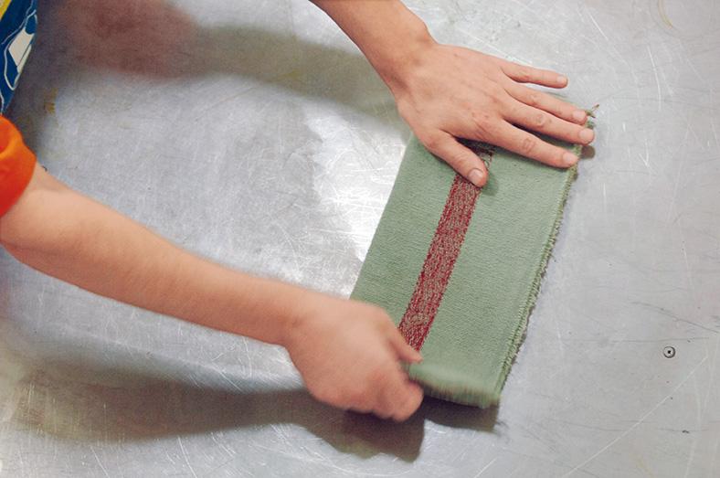 Putztücher in Druckereien: Schritt 2