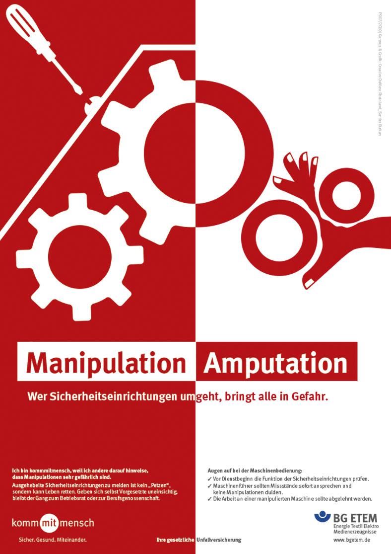 Plakatkampagne 2020, Motiv Manipulation – Amputation.