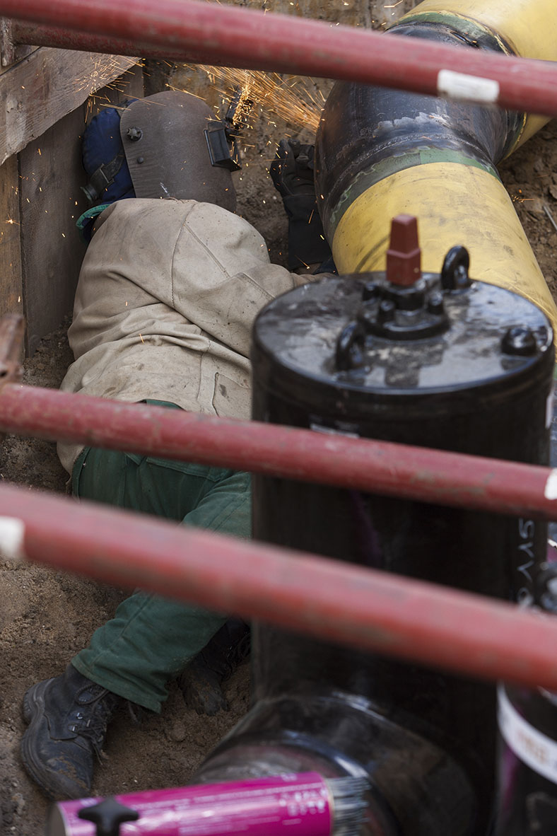 Arbeitsmedizinische Prävention Gasnetzbetrieb: Zwangshaltung