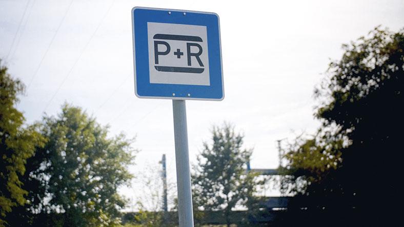 Ein Park-and-Ride-Schild