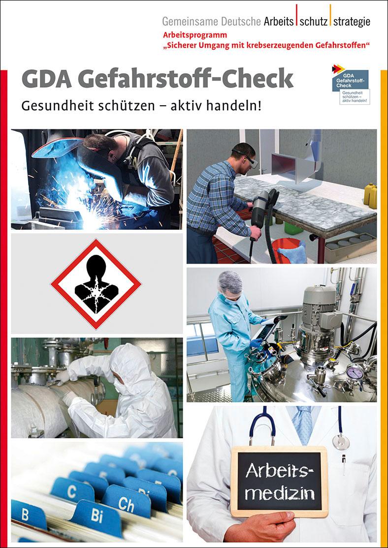 Cover der Broschüre GDA-Gefahrstoff-Check