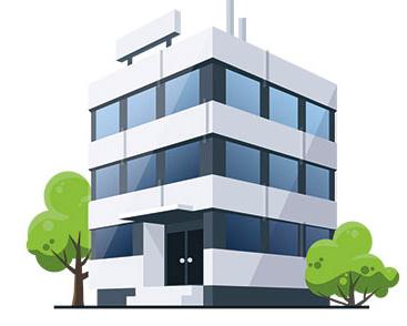 Illustration Bürogebäude